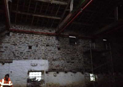 Temporary steel frame, Bolton Abbey-1
