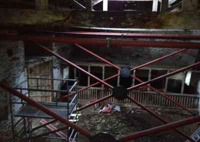 Temporary steel frame, Bolton Abbey-2