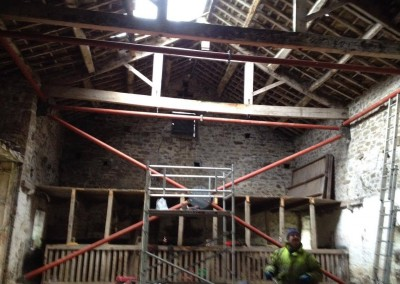 Temporary steel frame, Bolton Abbey-6